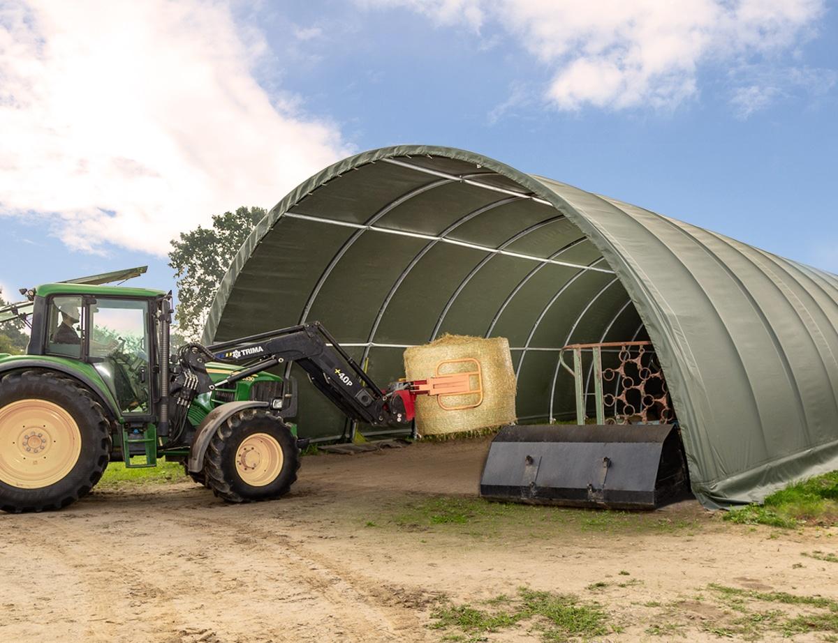 Rundbogenhalle landwirtschaftliche Nutzung Toolport Lagerhalle