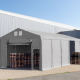 Lagerzelt Vario von Toolport im industriellen Einsatz