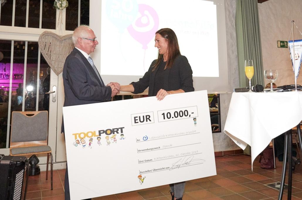 50 Jahre Lebenshilfe Kaltenkirchen Spende Toolport