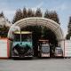 Wettergeschützter Unterstand und Lager für Maschinen und Material