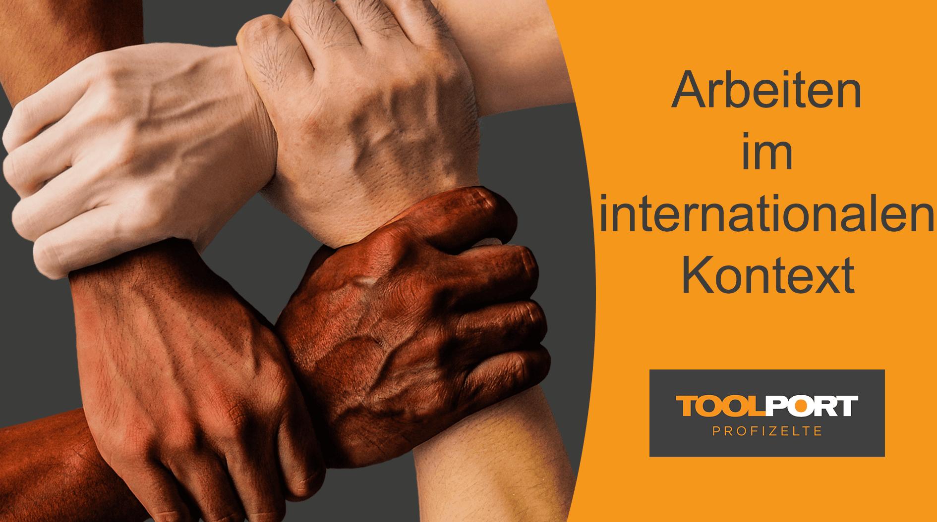 interkultureller Handschlag und Zusammenarbeit